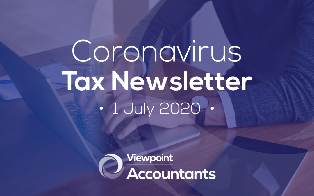 Coronavirus – 1 July 2020 Tax Newsletter