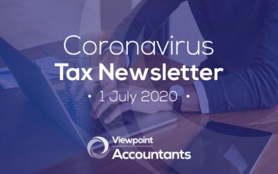 Coronavirus – 1 July 2020 Tax Newsletter
