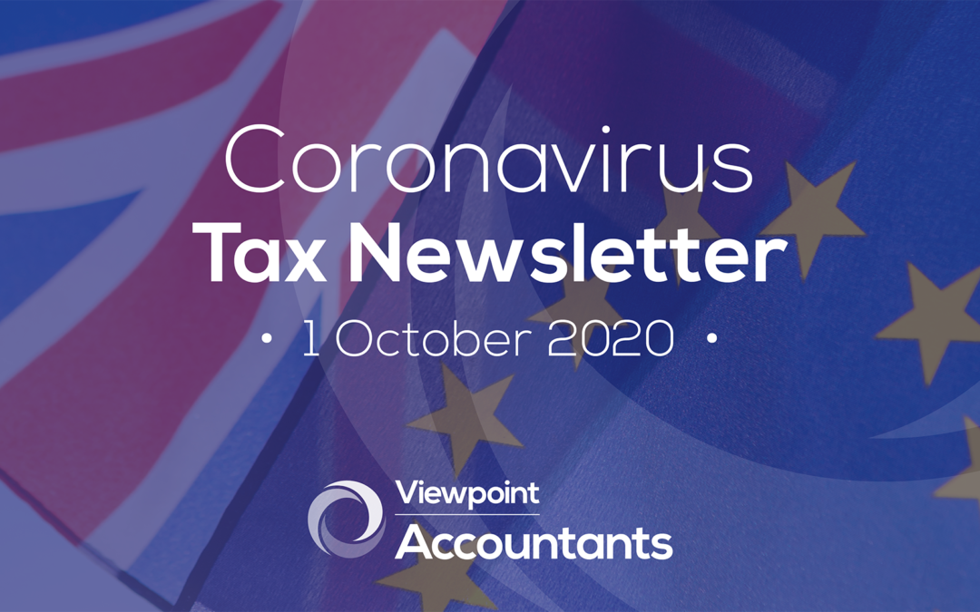 Coronavirus – 1 October 2020 Tax Newsletter