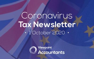 Coronavirus – 1 October 2020 Tax Newsletter