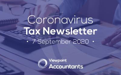 Coronavirus – 7 September 2020 Tax Newsletter