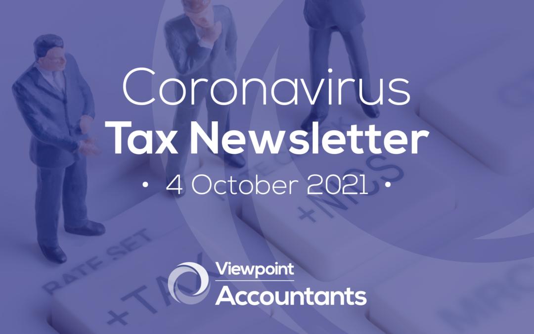 Coronavirus – 04 October 2021 Tax Newsletter